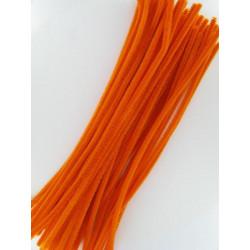 Pfeifenputzer orange, 6mm x 300mm, 50Stk.