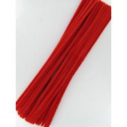 Pfeifenputzer rot, 6mm x 300mm, 50Stk.
