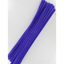 Pfeifenputzer violett, 6mm x 300mm, 50Stk.