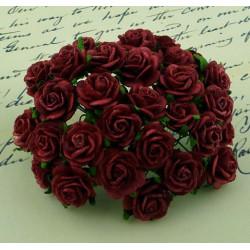 Rosen dunkelrot, 10mm