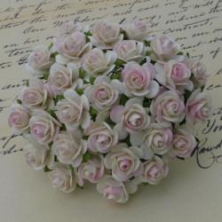 Rosen elfenbein/pink, 10mm