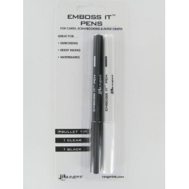 Embossit Pens, 1 Clear, 1 Black