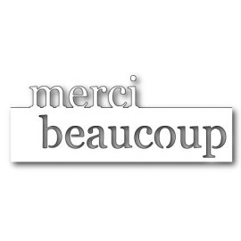 "Stanzform ""Merci Beaucoup"", 14x5.1cm"