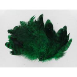 Hahnenschlappen, grün/schwarz
