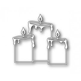 "Stanzform ""Pillar Candle Trio"", 7.2x6.7cm"