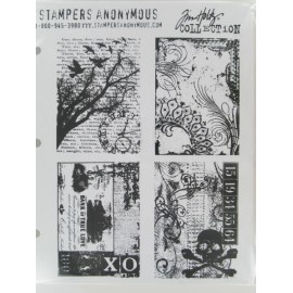 "Motivstempelset ""Ornate Collages"", 4 Stempel"