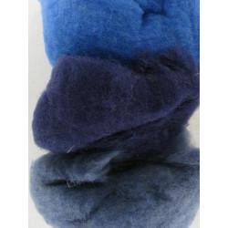 Filzwolle, blau Mix, 50g