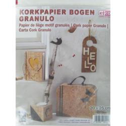 Korkpapierbogen granulo, 20x25cm