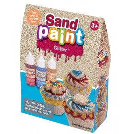 Sand Paint Glitter, 3 x 40 ml, rot, blau, gold