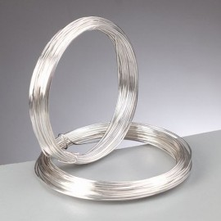 Silberdraht mit Kupferkern, 1mm, 4m