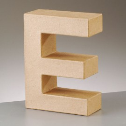 Kartonbuchstabe E