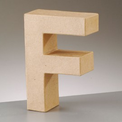 Kartonbuchstabe F