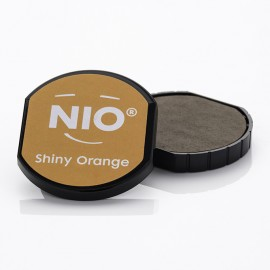 NIO Stempelkissen, Ø40mm, shiny orange