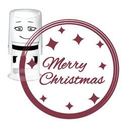 NIO, Stempelmotiv, Ø40mm, merry christmas - glamour badg