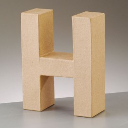 Kartonbuchstabe H, gross