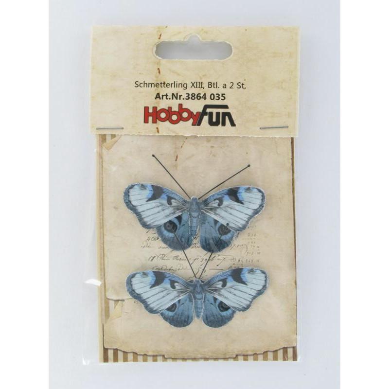 Schmetterling XIII, ca. 6cm, 2Stk.