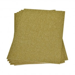 Moosgummiplatte Glitter, gold, 1Stk.