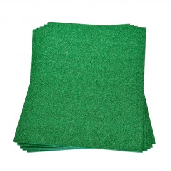 Moosgummiplatte Glitter, hellgrün, 1Stk.