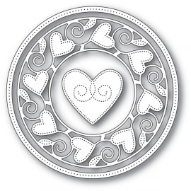 "Stanzform ""Pingpoint Heart Circle Frame"""