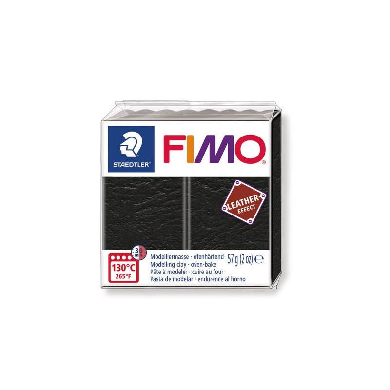 Fimo Ledereffekt, schwarz