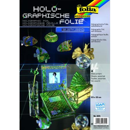 Holographische Folie, selbstklebend, 23x33cm