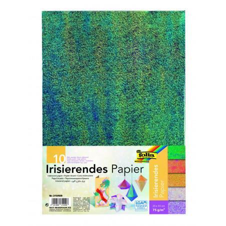 Irisierendes Papier 75g/m², 23x33cm