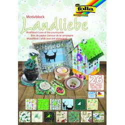 Motivblock LANDLIEBE, 24x34cm