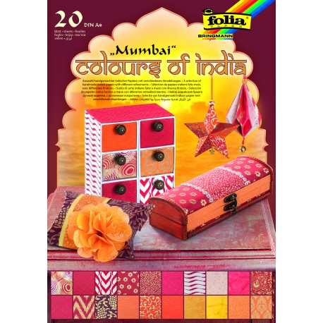 Naturpapier Block COLOURS OF INDIA - Mumbai