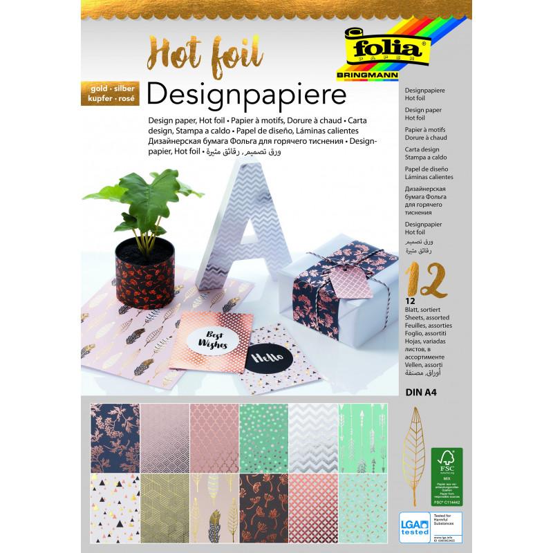 Designpapierblock HOTFOIL 165g/m², DIN A4