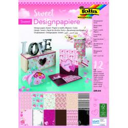 Designpapierblock SWEET 165g/m², DIN A4