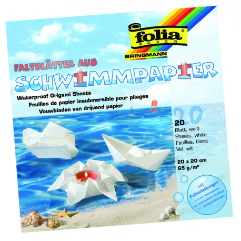Schwimmpapier 65g/m², 20x20cm
