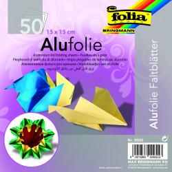 Alu-Faltblätter, 15x15cm