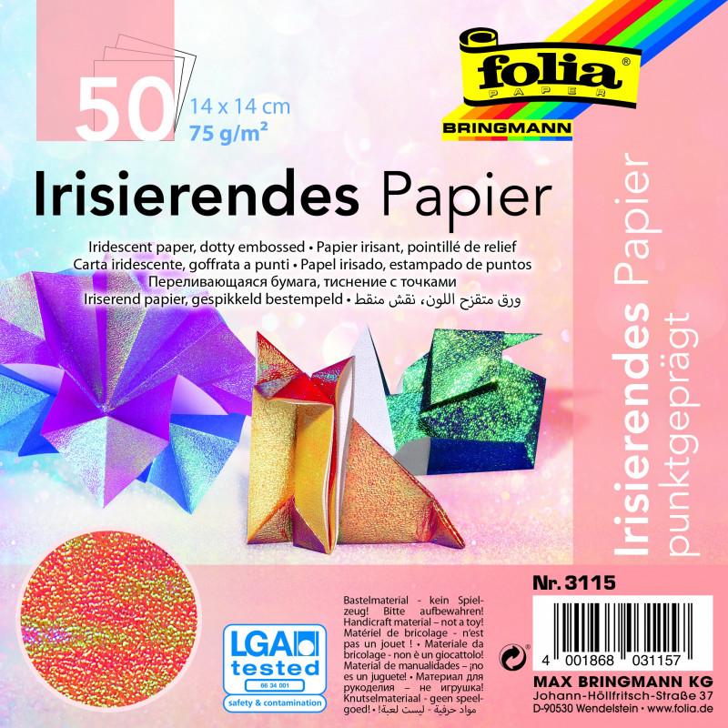 Irisierendes Papier 75g/m², 14x14cm