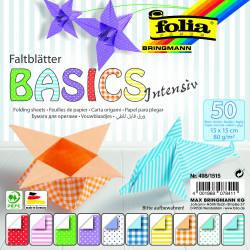 Faltblätter BASIC INTENSIV 80g/m², 15x15cm