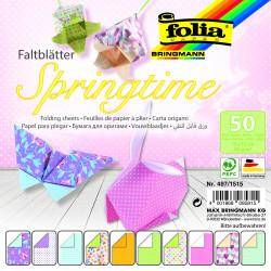Faltblätter SPRINGTIME 80g/m², 15x15cm