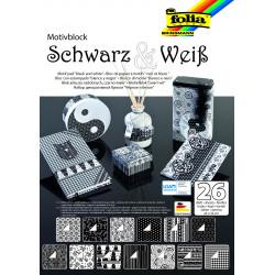 Motivblock schwarz/weiss, 24x34cm
