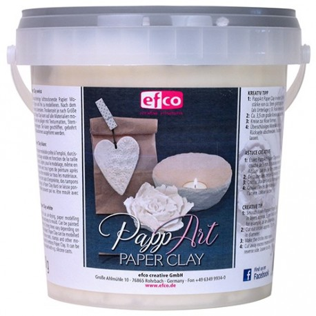 PappArt, Paperclay, 900g, weiss