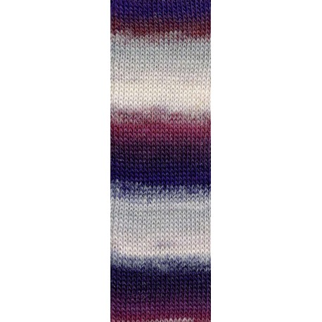 Mille Colori Socks & Lace Luxe, weiss-violett