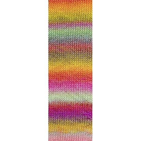 Mille Colori Socks & Lace Luxe, pink-mint-gelb