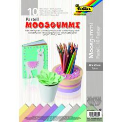 Moosgummi-Pastell, 10 Farben