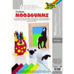 Frotte-Moosgummi, 6 Farben sortiert