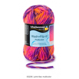Wash and Filz, pink-lilac multicolor