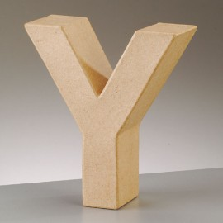 Kartonbuchstabe Y, gross