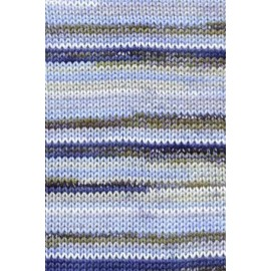 Tissa-Garn, 0235, blau-beige, 50g/80m