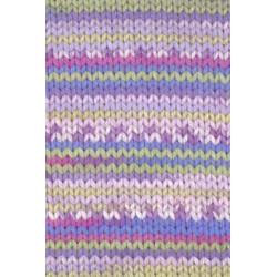Tissa-Garn violett-grün meliert, 50g/80m