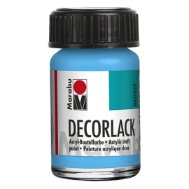 Decorlack Acryl, 15ml, hellblau