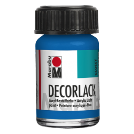 Decorlack Acryl, 15ml, azurblau