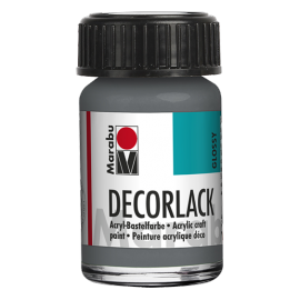 Decorlack Acryl, 15ml, grau