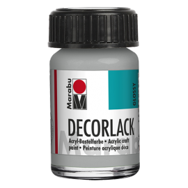 Decorlack Acryl, 15ml, metallic-silber