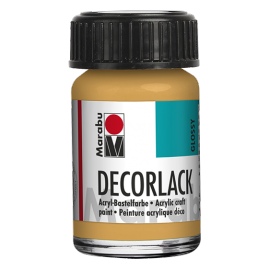 Decorlack Acryl, 15ml, metallic-gold